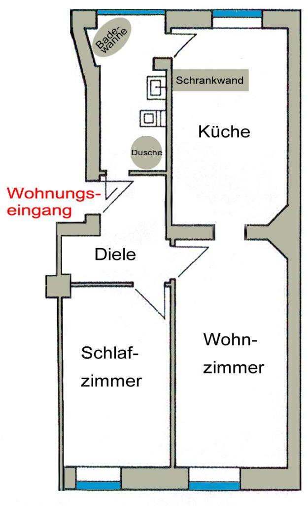 Grundriss Schwanenkampstr 41-43