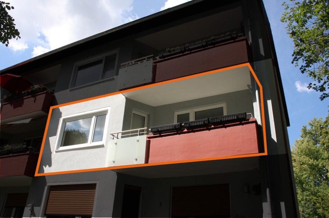 Etagenwohnung, 3 Zimmer & Balkon